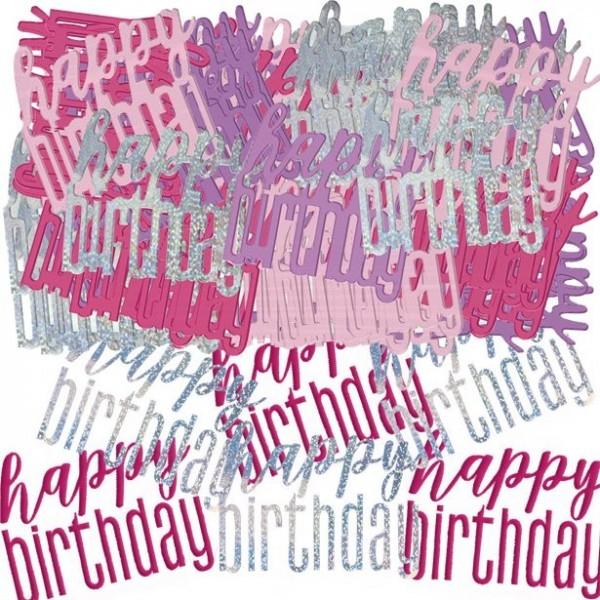 Coriandoli scintillanti rosa compleanno 14g