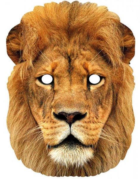 Authentische Löwen Pappmaske