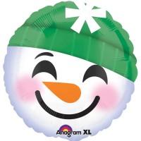Smiling Snowman Folienballon 43cm