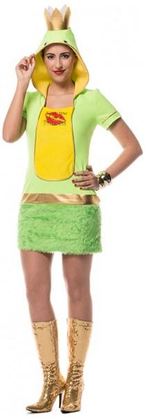 Froschprinzessin Kleid Mit Kapuze Für Damen