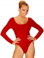 Klassieke body voor dames rood