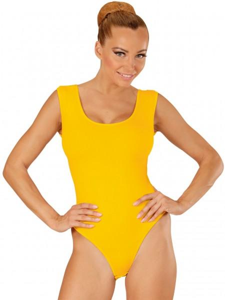 Body Lara sans manches jaune