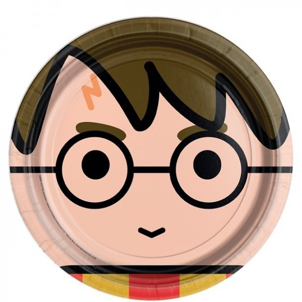 8 Harry Potter Cartoon Pappteller 23cm