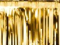 Gold metallic Vorhang 18,5cm x 4m