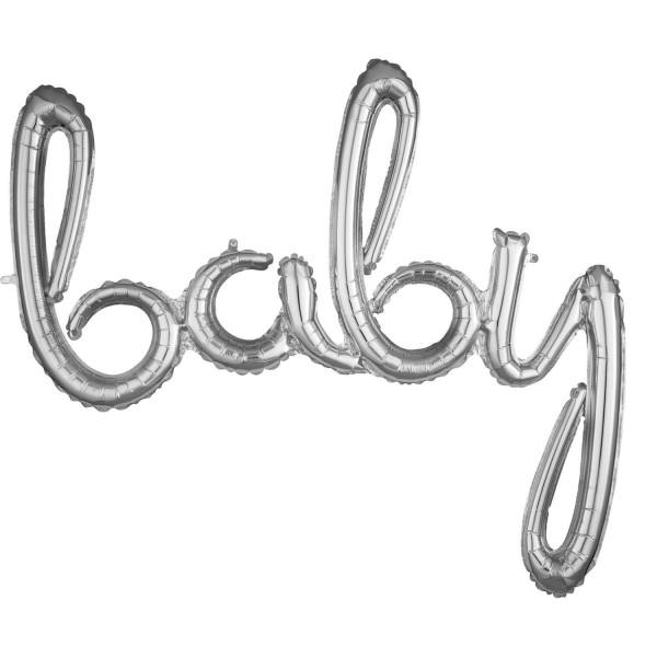 Silberner Baby Schriftzug 99cm