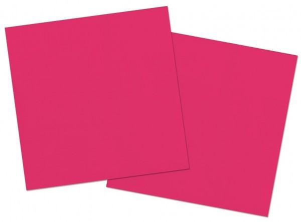 20 servilletas Cleo rosa 33 x 33cm