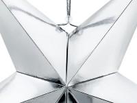 Spiegelnder Papierstern in Silber 70cm