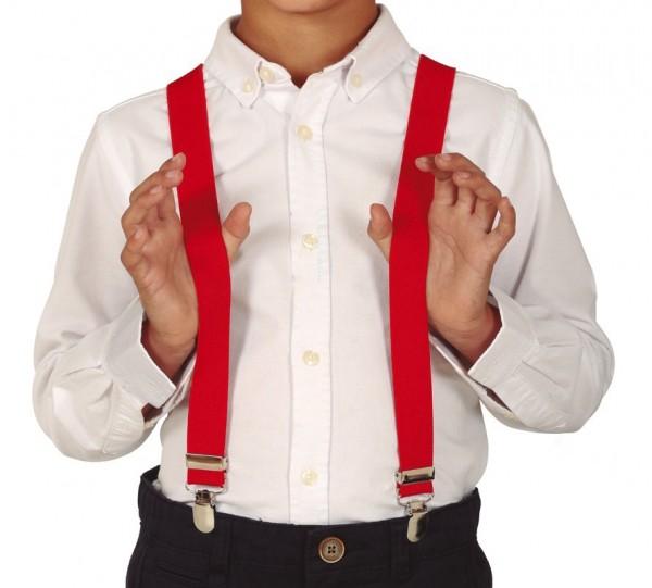 Suspenders for children red