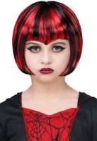 Halloween Gothic Perücke schwarz-rot