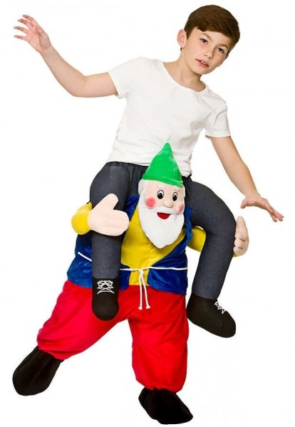 Piggyback on dwarf kid costume