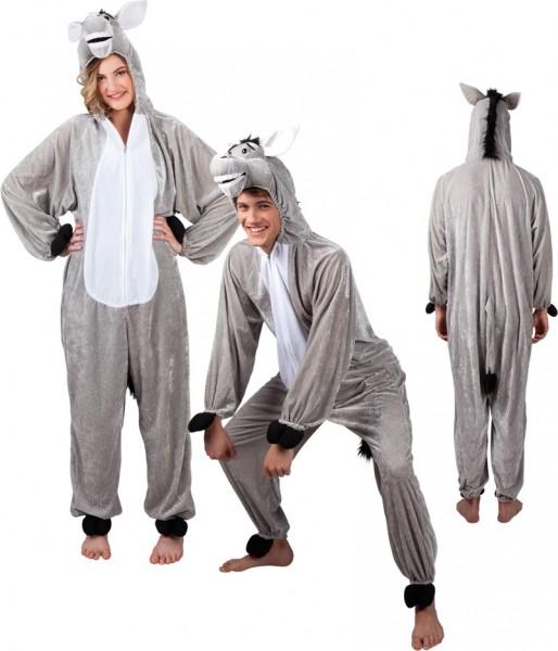 Unisex donkey pluche kostuum