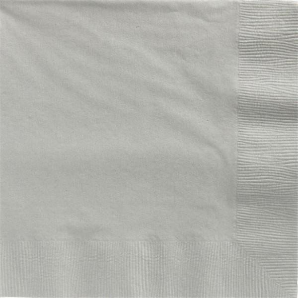 50 servilletas plateadas 2 capas 40cm