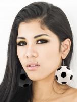 XXL Fußball Fan Ohrringe