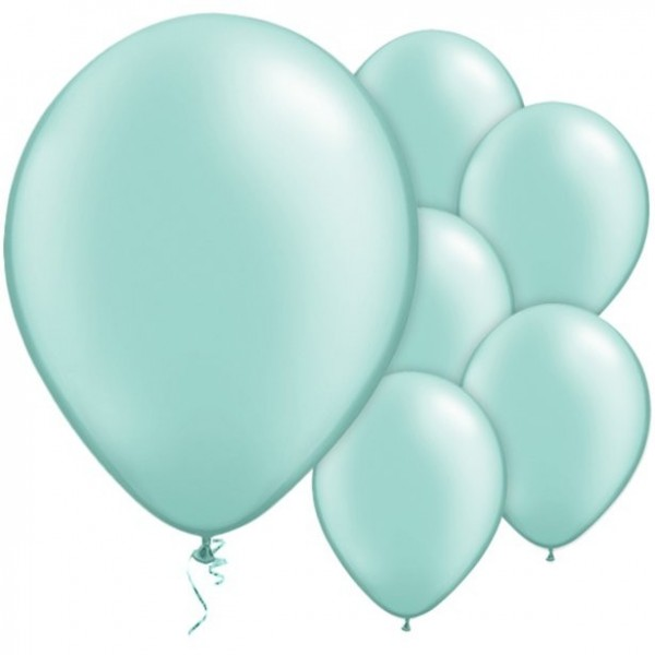 25 ballons turquoise menthe Passion 28cm