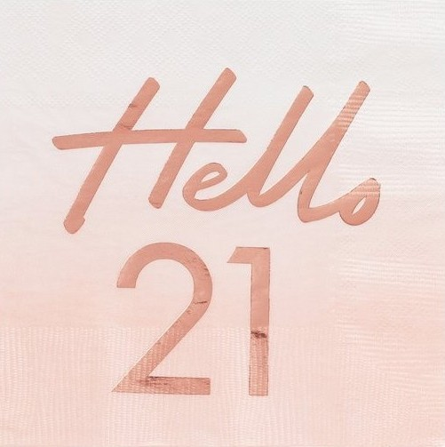 16 Hello Twentyone Servietten 33cm