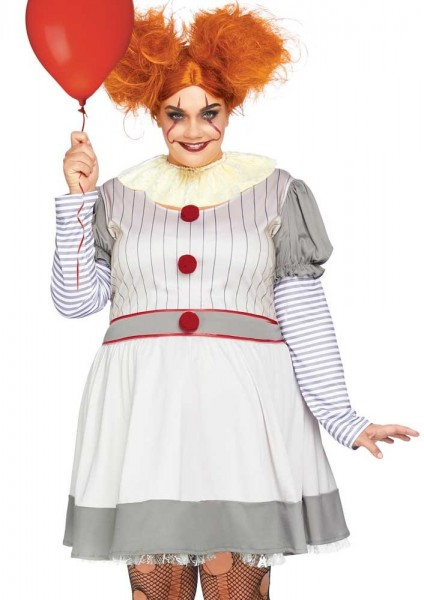 Horror Clown Damen Plus Size Kostüm