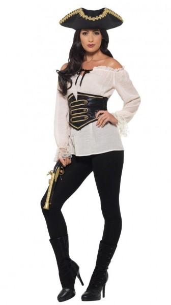 Blusa pirata noble Pia para mujer Premium