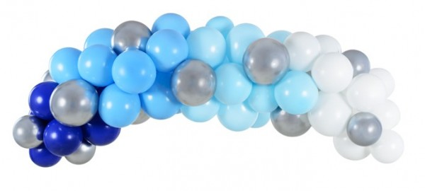 Blaue Ballongirlande Endless Sky