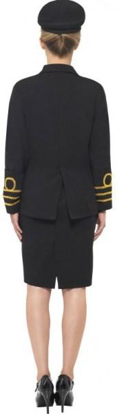 Sexy Marine Offizierin Damenkostüm