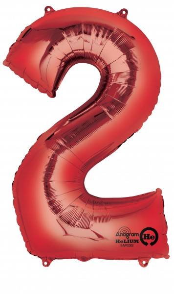 Number balloon 2 red 88cm