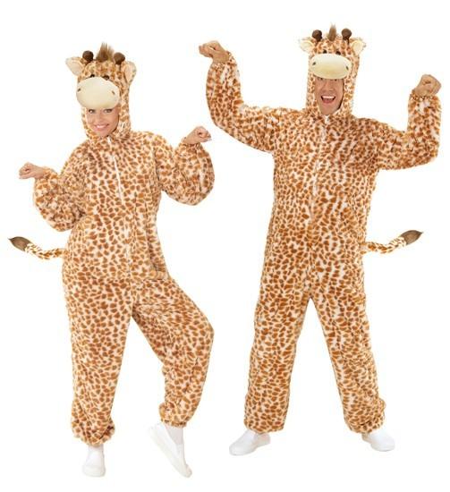 Costume de girafe en peluche unisexe