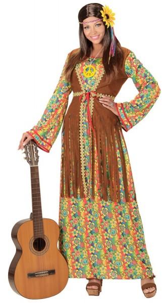 Déguisement de dame hippie Wellori