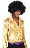 Shiny Rüschenhemd Gold