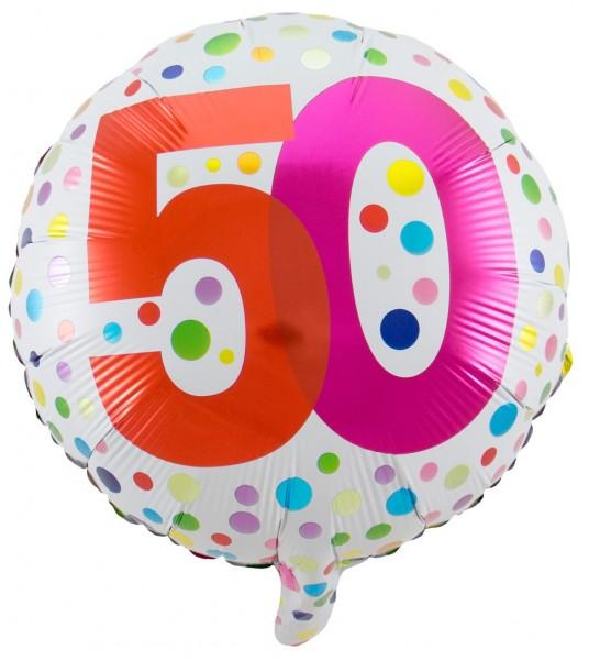 Splendid 50th Birthday Folienballon 45cm