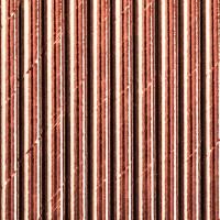 10 Roségold metallic Strohhalme 19,5cm