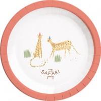 8 Happy Safari Pappteller 23cm