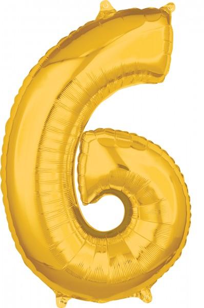 Tal folie ballon 6 guld 66cm