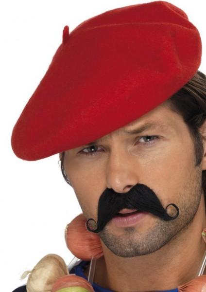 Klassische Rote Baskenmütze