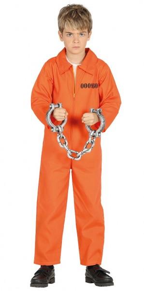 Kleiner Häftling Tom Oranger Kinderoverall