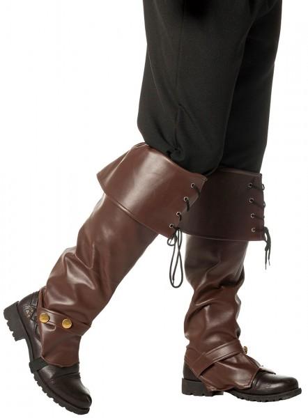 Braune Stiefelstulpen Deluxe