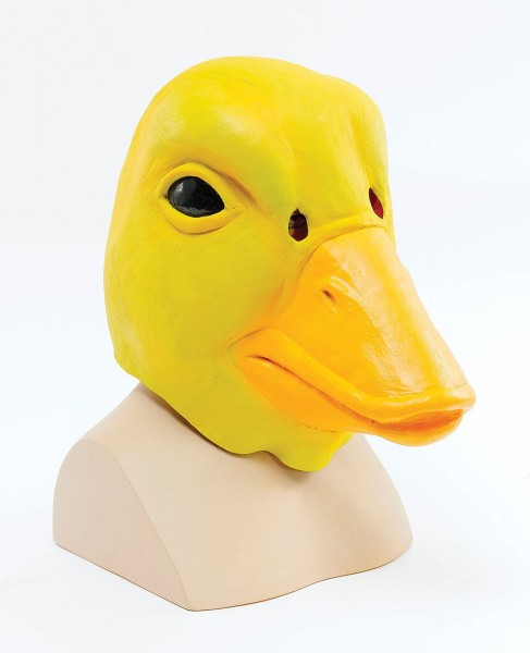 Anatra gialla Julius maschera a testa intera