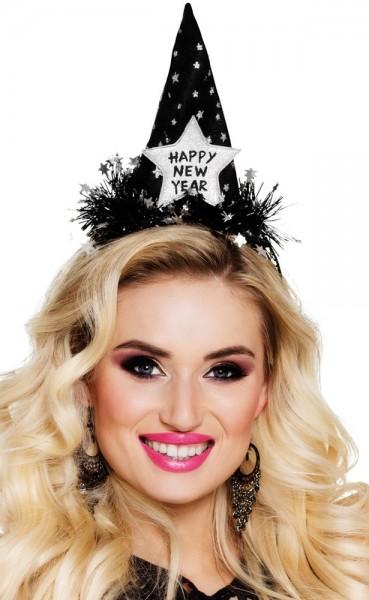 Happy New Year Haarreif Mit Mini Spitzhut