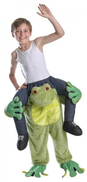Piggyback kikker kostuum voor kinderen