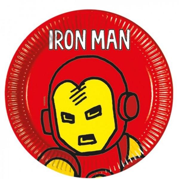 8 Iron Man Pappteller 23cm