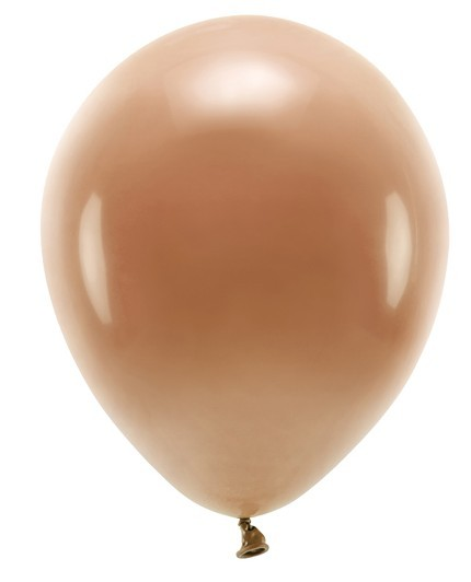 100 Eco Pastell Ballons hellbraun 26cm