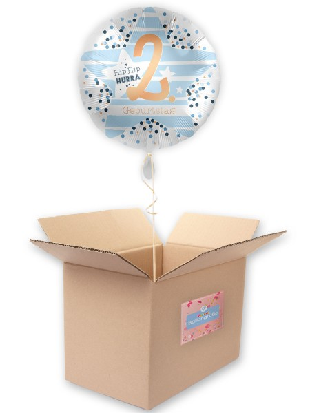 2. Geburtstag Folienballon Happy Star 45cm