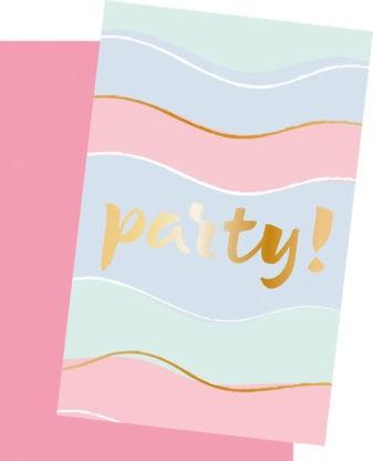 6 Pastell Party Einladungskarten