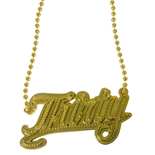 Necklace Bling Bling Thirty gold