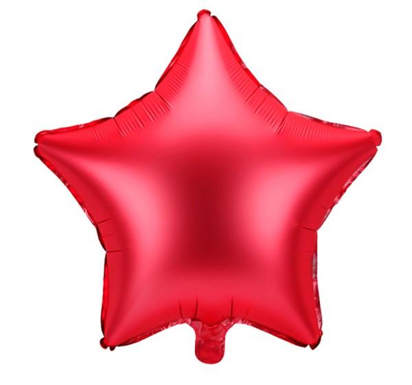 Ballon aluminium étoile rouge mat 48cm