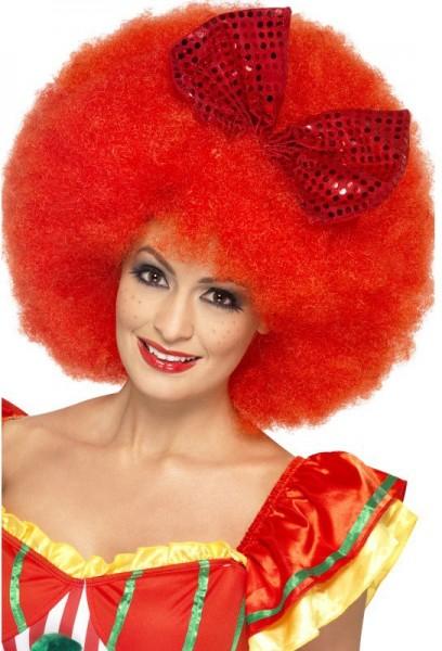 XXL Afro Clown Perücke Rot