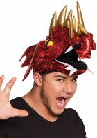 Schimmernde Drachen Mütze Rot