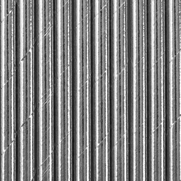10 pailles en papier métallisé argenté 19,5 cm