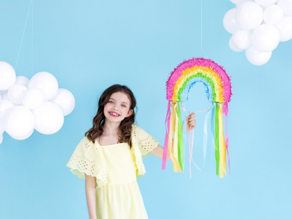 Rainbow Piñata with Colourful Tassels