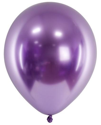 50 Metallic Ballons Partyperle violett 27cm