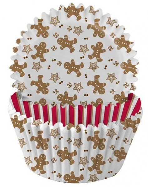 75 gingerbread muffin tins 5cm