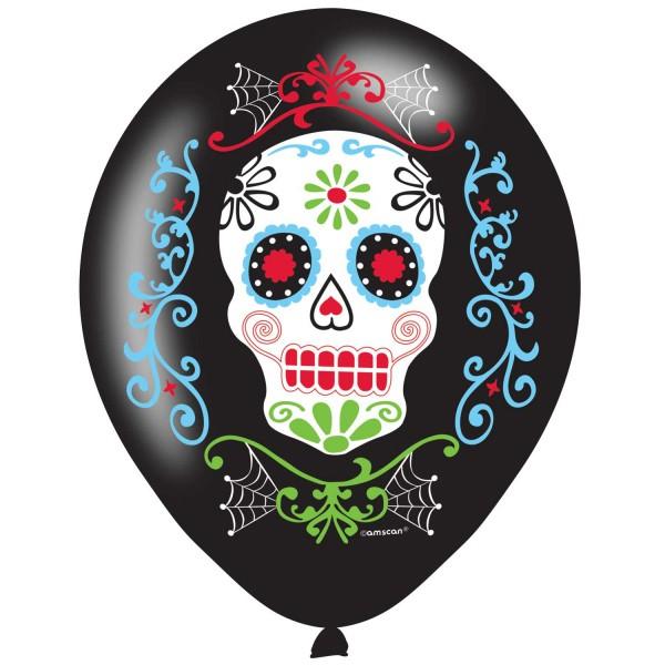 6 Dia de los Muertos Luftballons 27,5cm